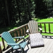 Lodge Cabin deck