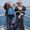 Kids love fishing with us  !