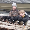 scoter hunt w/ the kids